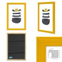 3er Set Bilderrahmen Gelb 20x30 cm Massivholz mit Acrylglasscheibe / Fotorahmen / Wechselrahmen – Bild 3