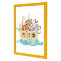 3er Set Bilderrahmen Gelb 30x45 cm Massivholz mit Acrylglasscheibe / Fotorahmen / Wechselrahmen – Bild 3