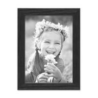 Bilderrahmen Schwarz 10x15 cm Massivholz mit Acrylglasscheibe / Fotorahmen / Wechselrahmen – Bild 3
