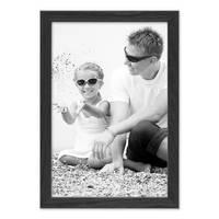 Bilderrahmen Schwarz 20x30 cm Massivholz mit Acrylglasscheibe / Fotorahmen / Wechselrahmen – Bild 4