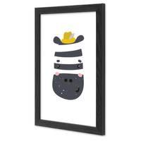 Bilderrahmen Schwarz 20x30 cm Massivholz mit Acrylglasscheibe / Fotorahmen / Wechselrahmen – Bild 3