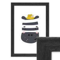 Bilderrahmen Schwarz 21x30 cm / DIN A4 Massivholz mit Acrylglasscheibe / Fotorahmen / Wechselrahmen – Bild 1