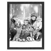 Bilderrahmen Schwarz 30x40 cm Massivholz mit Acrylglasscheibe / Fotorahmen / Wechselrahmen – Bild 4