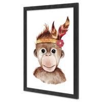 Bilderrahmen Schwarz 30x40 cm Massivholz mit Acrylglasscheibe / Fotorahmen / Wechselrahmen – Bild 2