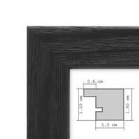 Bilderrahmen Schwarz 40x40 cm Massivholz mit Acrylglasscheibe / Fotorahmen / Wechselrahmen – Bild 2