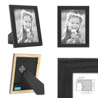 3er Set Bilderrahmen Schwarz 13x18 cm Massivholz mit Acrylglasscheibe / Fotorahmen / Wechselrahmen – Bild 2