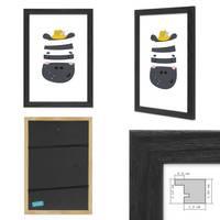3er Set Bilderrahmen Schwarz 21x30 cm / DIN A4 Massivholz mit Acrylglasscheibe / Fotorahmen / Wechselrahmen – Bild 2
