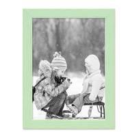 Bilderrahmen Grün 18x24 cm Massivholz mit Acrylglasscheibe / Fotorahmen Mint / Wechselrahmen – Bild 3