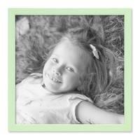 Bilderrahmen Grün 30x30 cm Massivholz mit Acrylglasscheibe / Fotorahmen Mint / Wechselrahmen  – Bild 3