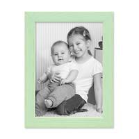 3er Set Bilderrahmen Grün 10x15 cm Massivholz mit Acrylglasscheibe / Fotorahmen Mint / Wechselrahmen – Bild 5