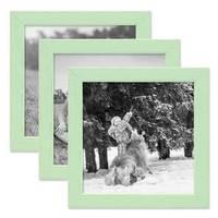 3er Set Bilderrahmen Grün mit Acrylglas 15x15 cm