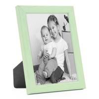 3er Set Bilderrahmen Grün 15x20 cm Massivholz mit Acrylglasscheibe / Fotorahmen Mint / Wechselrahmen – Bild 4