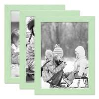 3er Set Bilderrahmen Grün mit Acrylglas 15x20 cm