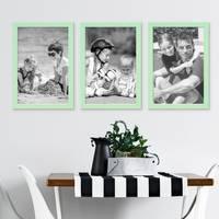 3er Set Bilderrahmen Grün 21x30 cm / DIN A4 Massivholz mit Acrylglasscheibe / Fotorahmen Mint / Wechselrahmen – Bild 4