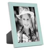 Bilderrahmen Blau 10x15 cm Massivholz mit Acrylglasscheibe / Fotorahmen Hellblau / Wechselrahmen – Bild 1