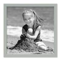 Bilderrahmen Grau 30x30 cm Massivholz mit Acrylglasscheibe / Fotorahmen Hellgrau / Wechselrahmen  – Bild 4