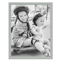 Bilderrahmen Grau 30x40 cm Massivholz mit Acrylglasscheibe / Fotorahmen Hellgrau / Wechselrahmen – Bild 4