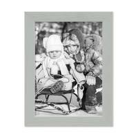 3er Set Bilderrahmen Grau 13x18 cm Massivholz mit Acrylglasscheibe / Fotorahmen Hellgrau / Wechselrahmen – Bild 5