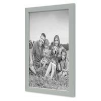 3er Set Bilderrahmen Grau 21x30 cm / DIN A4 Massivholz mit Acrylglasscheibe / Fotorahmen Hellgrau / Wechselrahmen – Bild 5