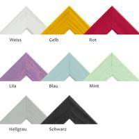 3er Set Bilderrahmen Grau 21x30 cm / DIN A4 Massivholz mit Acrylglasscheibe / Fotorahmen Hellgrau / Wechselrahmen – Bild 8
