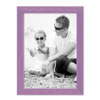 Bilderrahmen Lila 18x24 cm Massivholz mit Acrylglasscheibe / Fotorahmen Violett / Wechselrahmen – Bild 3