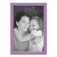 Bilderrahmen Lila 21x30 cm / DIN A4 Massivholz mit Acrylglasscheibe / Fotorahmen Violett / Wechselrahmen – Bild 5
