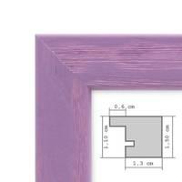 Bilderrahmen Lila 30x30 cm Massivholz mit Acrylglasscheibe / Fotorahmen Violett / Wechselrahmen  – Bild 2