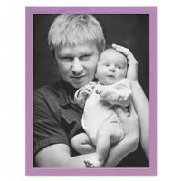 Bilderrahmen Lila 40x50 cm Massivholz mit Acrylglasscheibe / Fotorahmen Violett / Wechselrahmen – Bild 4