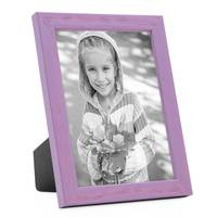 3er Set Bilderrahmen Lila 10x15 cm Massivholz mit Acrylglasscheibe / Fotorahmen Violett / Wechselrahmen – Bild 3