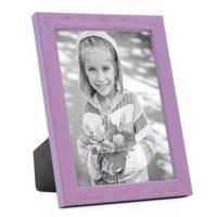3er Set Bilderrahmen Lila 13x18 cm Massivholz mit Acrylglasscheibe / Fotorahmen Violett / Wechselrahmen – Bild 3