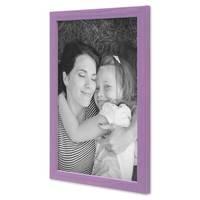 3er Set Bilderrahmen Lila 21x30 cm / DIN A4 Massivholz mit Acrylglasscheibe / Fotorahmen Violett / Wechselrahmen – Bild 4