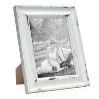 Vintage Bilderrahmen 15x20 cm Weiss Gekalkt Shabby-Chic