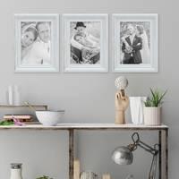 Bilderrahmen Landhaus-Stil Weiss Vintage Massivholz 13x18 cm / Fotorahmen / Portraitrahmen  – Bild 4