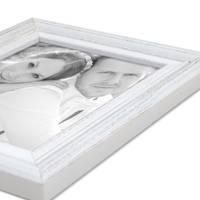 Bilderrahmen Landhaus-Stil Weiss Vintage Massivholz 13x18 cm / Fotorahmen / Portraitrahmen  – Bild 3