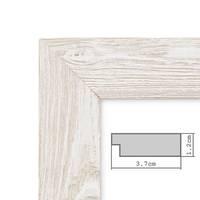 Holz-Bilderrahmen Weiss Lasiert Massivholz Gebürstet 15x20 cm / Holzrahmen / Fotorahmen – Bild 6