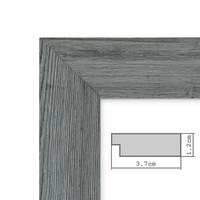Holz-Bilderrahmen Grau Lasiert Massivholz Gebürstet 10x15 cm / Holzrahmen / Fotorahmen – Bild 6