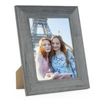 Holz-Bilderrahmen 15x20 cm Grau Lasiert