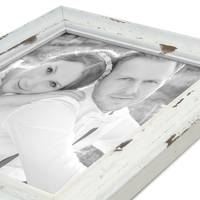 3er Set Vintage Bilderrahmen Landhaus-Stil Shabby-Chic Weiss Gekalkt 10x15 cm / Fotorahmen / Portraitrahmen  – Bild 5