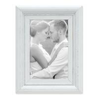 3er Set Bilderrahmen Landhaus-Stil Weiss Vintage Massivholz 10x15 cm / Fotorahmen / Portraitrahmen  – Bild 6
