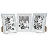3er Set Bilderrahmen Landhaus-Stil 10x15 cm Weiss