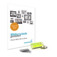 3er Set Bilderrahmen Landhaus-Stil Weiss Vintage Massivholz 15x20 cm / Fotorahmen / Portraitrahmen  – Bild 7