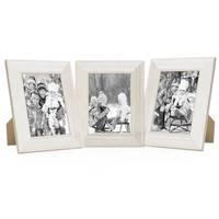 3er Set Holz-Bilderrahmen 13x18 cm Weiss Lasiert
