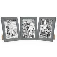 3er Set Holz-Bilderrahmen 21x30 cm Grau Lasiert