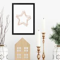 Weihnachtsposter Adventsstern 21x30 cm / DIN A4